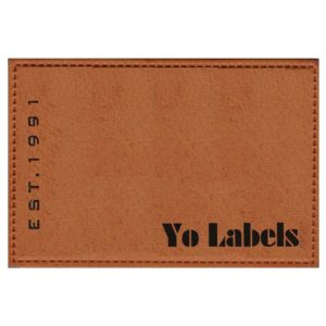 Artificial Leather Labels
